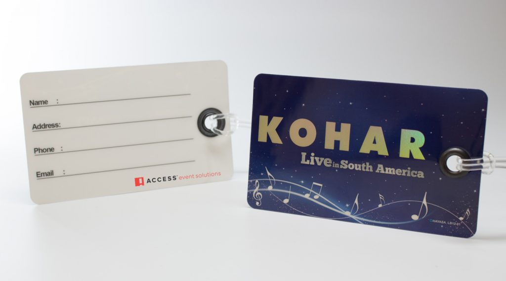 Kohar Luggage Tag with Blank Back